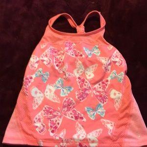 Girls size 10-12 peach butterfly 🦋 Gymgo tank.